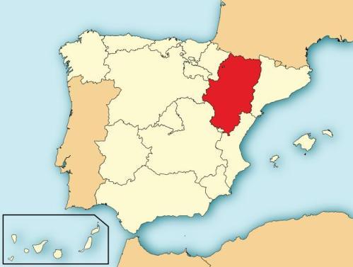 Mapa situación Aragón