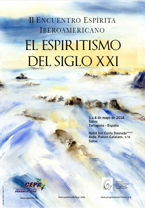 Cartel II Encuentro Espírita Iberoamericano