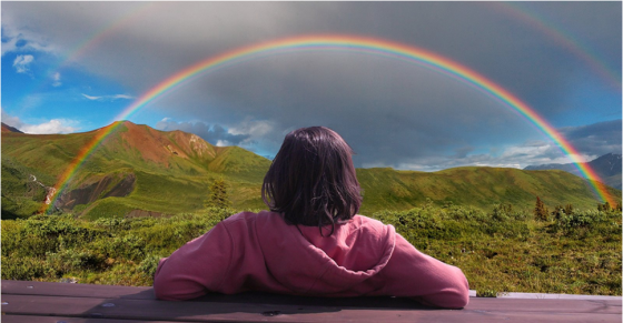 Mirando el arcoiris