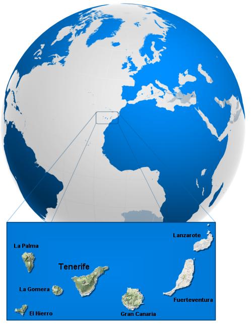 Situación Islas Canarias