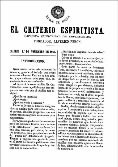 Carátula El Criterio Espiritista