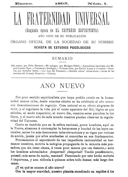 Carátula La Fraternidad Universal