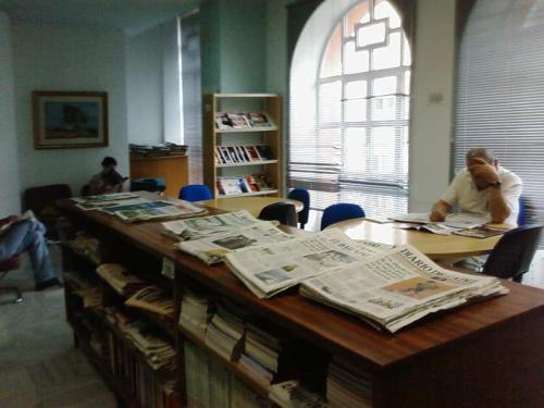 Hmeroteca sala de lectura