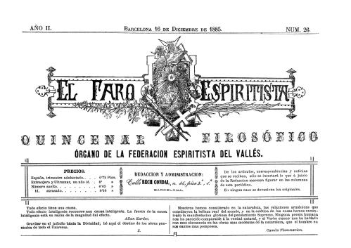 Mancheta El Faro Espiritista