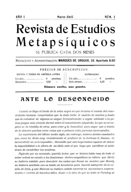 Revista de Estudios Metapsíquicos