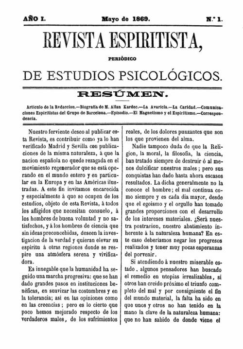 Revista Espiritista de Barcelona Nº 1