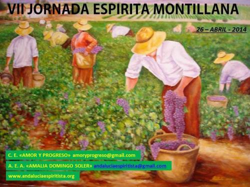 Cartel VII Jornada Espírita Montillana