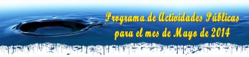 Entrada anuncio actividades mayo 2014