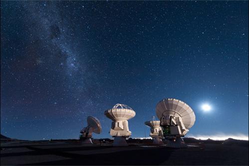 Antenas mirando el universo