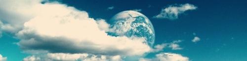 Tierra entre nubes