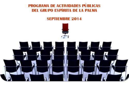 Anuncio Programa de actividades del GELP Septiembre 2014