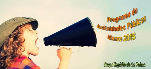 Cabecera Programa Actividadees Marzo 2015