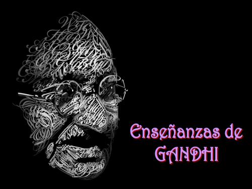 Cabecera enseñanzas de Gandhi