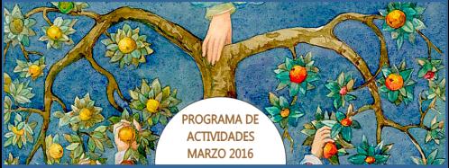 Cabecera Programa de Actividades Marzo 2016