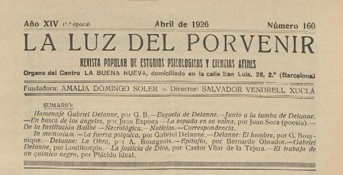 La Luz del Porvenir nº 160 Abril 1926_cabecera
